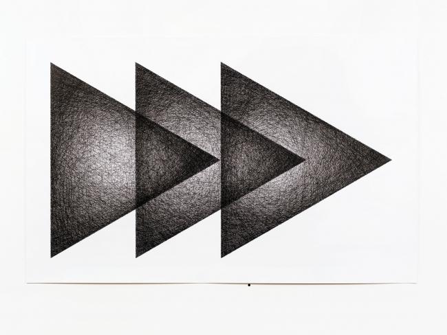 Ignacio Uriarte, Tres triángulos, 2018 — Cortesía del Museo ABC