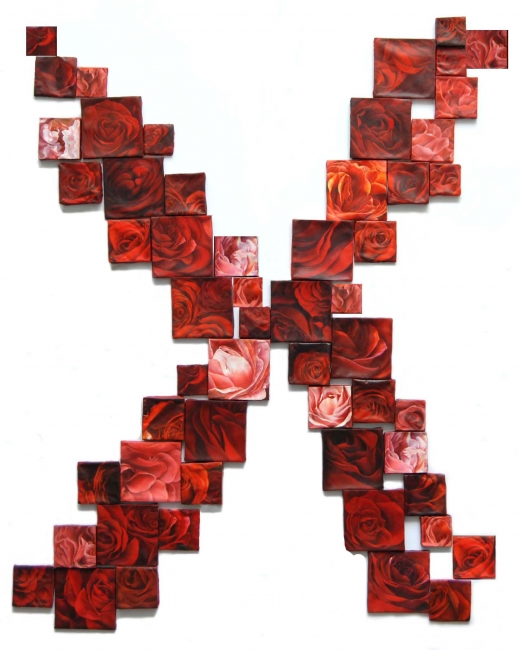 SILENCIO (rosa rojas)   1.80×1.60 o dimensiones variables   óleo/tela   2017-2018