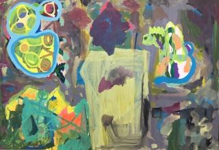 Maria Lynch I Sem título l Acrílica sobre tela. Cortesía Baró Galería
