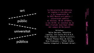 XXII Mostra Art Públic / Universitat Pública