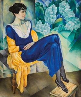Nathan Altman. Retrato de Anna Ajmátova. 1915 — Cortesía de Colección del Museo Ruso