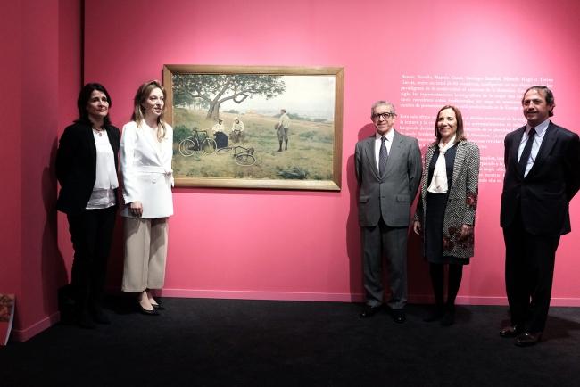 Imagen de la presentación, con Braulio Medel, Emilia Garrido, Elena Daurella, Jorge Campins y Helena Alonso — Cortesía de la Fundación Unicaja