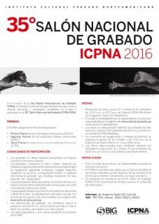 35° Salón Nacional de Grabado ICPNA 2016