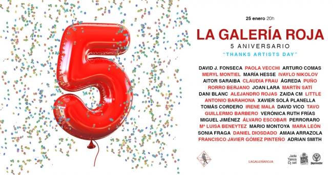 La Galería Roja. 5 aniversario