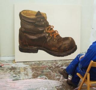 """Ignacio Pérez-Jofre. """"Soltera"""", 2018. Acrílico sobre papel encolado a tela. 170x210 cm. – Cortesía de La Gran"""