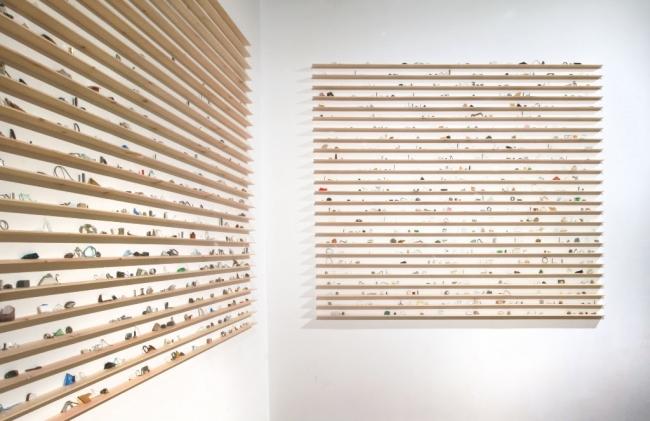 © Julia Llerena, La escritura y la diferencia – Libro abierto, 2018. Instalación — Cortesía de RocioSantaCruz