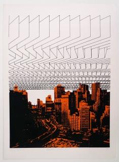 "Regina Silveira, ""Destrutura Urbana 8"", 1976 — Cortesía de Luciana Brito Galeria"