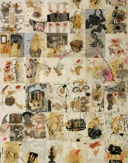 Carlos Barão, S/ título, técnica mista s/papel colado s/tela 146x114 cm, 2018 — Cortesía de TREMA Arte Contemporânea