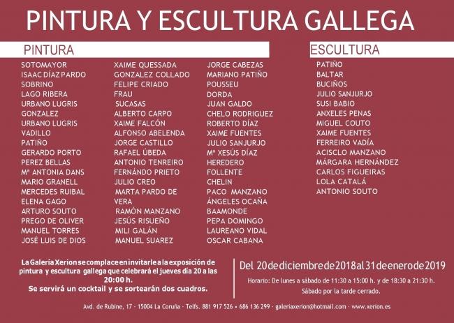 Pintura y escultura gallega