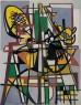 "Lygia Clark, Composición (Composição), 1951. Óleo sobre lienzo, 105 x 81 cm. Colección Patricia Phelps de Cisneros © Cortesía Asociación Cultural ""The World of Lygia Clark""— Cortesía Guggenheim Bilbao Museoa"