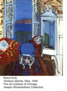 Raoul Dufy, Ventana abierta, Niza, 1928. The Art Institute of Chicago, Joseph Winterbotham Collection