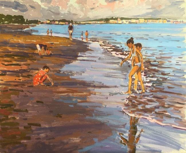 Mar, sol y playa. Imagen cortesía Galería Michel Menendez