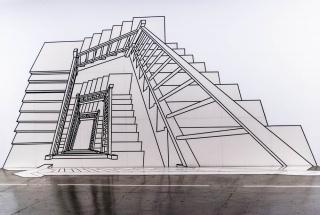 """Regina Silveira, """"Escada Inexplicável III"""", 1999 — Cortesía de Luciana Brito Galeria"""
