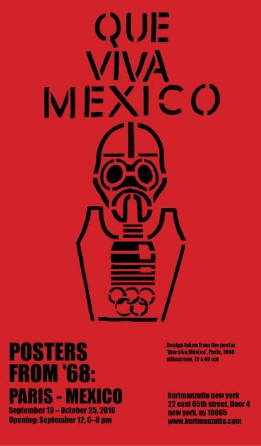 Pósters del 68: París – México. Imagen cortesía Kurimanzutto