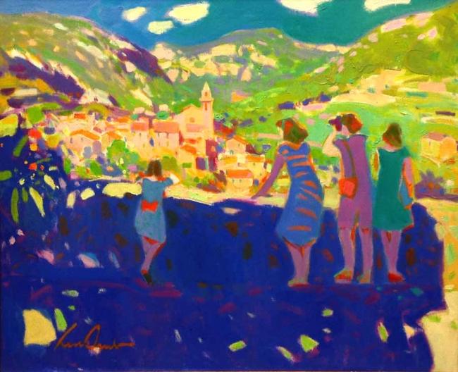 Luís Amer, Valldemossa, óleo sobre tela, 54x65 cms.