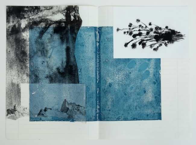Susanne S.D. Themlitz. El silencio cerca de la línea — Cortesía de la Galería Ángeles Baños