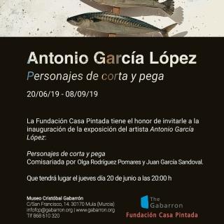 Invitación: Antonio López García. Personajes de Corta y Pega