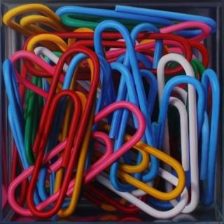 Javier Banegas, Clip Box. Oil on board, 120 x 120 cm.