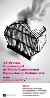 XV Premio Internacional de Poesía Experimental Diputación de Badajoz 2016