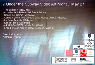 7 Under the Subway Video Art Night