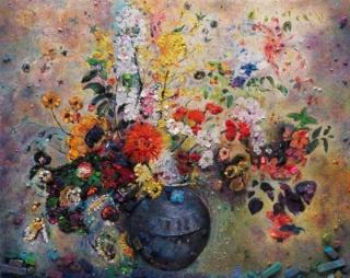 Vik Muniz, Metachrome (Flowers, after Odilon Redon II), 2016, archival pigment print, edition of 6 + 4 AP, 101.6 x 128.3 cm; (40 x 50 1/2 in.) & edition of 6 + 2 AP, 160 x 201.9 cm; (63 x 79 1/2 in.)