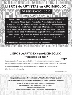 LIBROS DE ARTISTA 2017. Imagen cortesía Arcimboldo