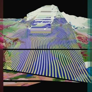 Julio Sarramián, Dimensión fractal #02. Pintura sintética y óleo sobre lino 180x180cm. — Cortesía de la Galería Herrero de Tejada