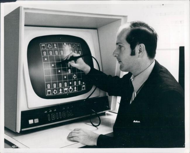 Chris Dailey, Varian data machine 6201 computer, 1970 — Cortesía de la Fundación Telefónica