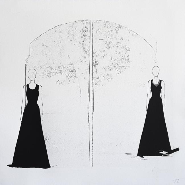Elisa Torreira, Técnica mixta, papel algodón, 40x40cm. 2018 — Cortesía de Utopia Parkway