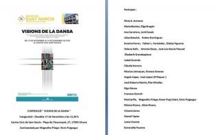 Cartel expositivo en referencia a los artistas participantes y fechas de inauguración