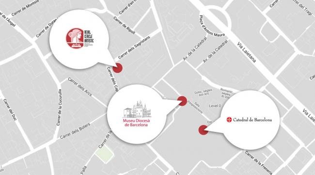 Mapa de les exposicions