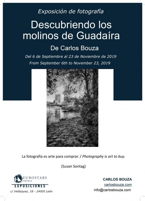 """Cartel de la exposición """"Descubriendo los molinos del Guadaíra"""" en Eurostars León"""