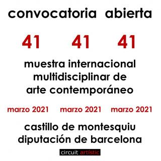41ª MUESTRA INTERNACIONAL - CIRCUIT ARTÍSTIC - DIPUTACIÓN DE BARCELONA