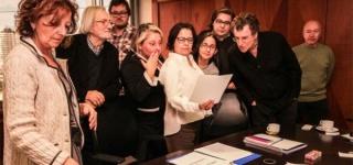 Foto del jurado encargado de la selección del proyecto
