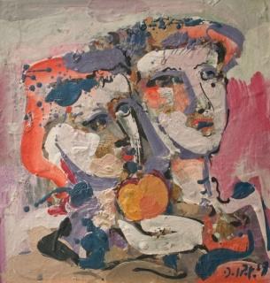 Juan del Prete, Dos chicas con una fruta, 1969