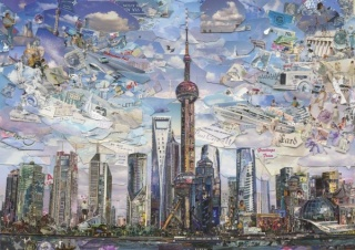 Vik Muniz, Shanghai Postcard (Postcards from Nowhere), 2014, Digital C-print, 180.3 x 256.3 cm (edition of 6) & 101.6 x 144.3 cm (edition of 6)