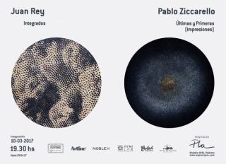Flyer de Inauguración Juan Rey y Pablo Ziccarello