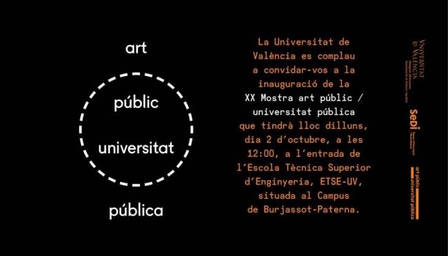 XX Mostra Art Públic / Universitat Pública