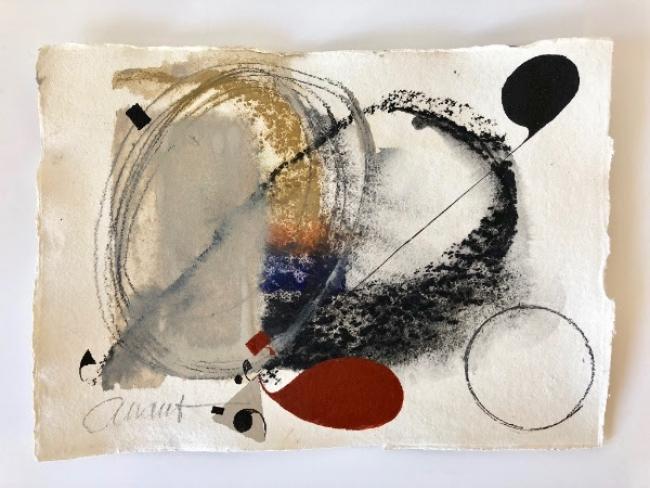 "Felix Anaut, ""The Arundel Suite"", oil, conte and graphite on Khadi paper, 30 x 42 cm – Cortesía del artista"