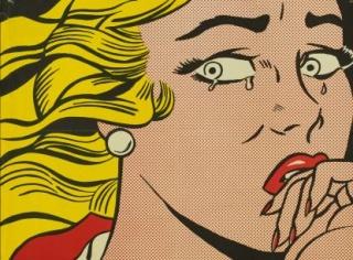 Roy Lichtenstein , Mujer llorando, 1963 © Estate of Roy Lichtenstein, VEGAP, Madrid, 2018 — Cortesía de la Fundación Canal