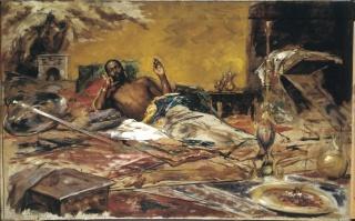 Antoni Fabrés, Reposo del guerrero, 1878 Barcelona, Museu Nacional d'Art de Catalunya — Cortesía del MNAC