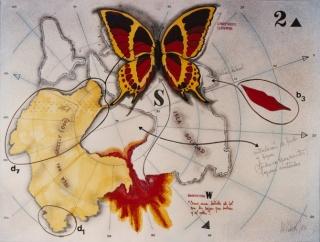 Mariposa y bahía labial, 1983.  De la serie Dibujos Rorschach