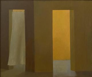 María Gómez, Espíritus 2, 2017 - 2021, Óleo sobre lienzo, 46 x 55 cm — Cortesía de la Galería Marta Cervera