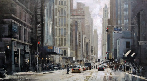 New York, avenida. 100 x 162 cm.