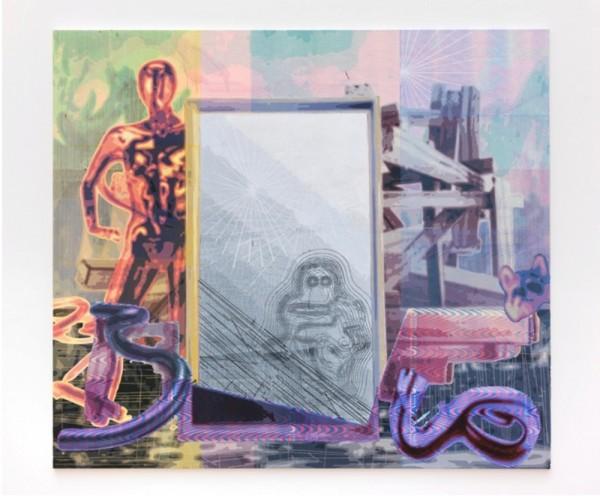 Markus Oehlen: Sin título, 200 x 230cm, acrilico sobre lienzo, 2013