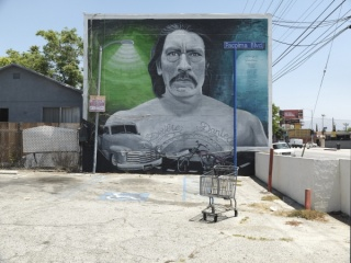 Ken Gonzales-Day. 2016, Photograph of Levi Ponce, Danny Trejo Mural. Copyright 2016, Ken Gonzales-Day