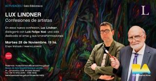 CONFESIONES DE UN ARTISTA: LUX LINDNER. Imagen cortesía Prensa Buenos Aires ciudad