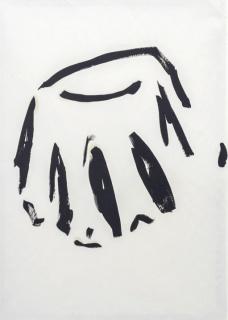 Rita Ferreira, TAMPA, 2019 Óleo sobre papel, 86.5 x 61 cm. — Cortesía de F2 Galería