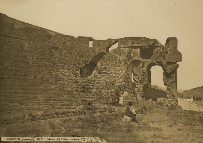 Jean Laurent. Teatro romano de Sagunto - Archivo José Huguet — Cortesía de la Fundación Railowsky