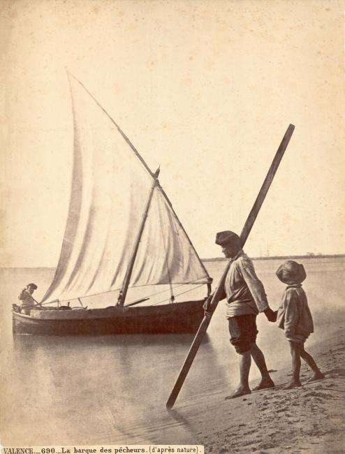 Jean Laurent. La Barca del pescador - Archivo José Huguet — Cortesía de la Fundación Railowsky